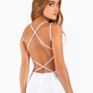 Tobi Cradle Back Dress White